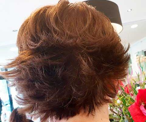 Cambios de look en mujeres con el pelo corto