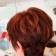 Peinado Bob con reflejos marrón cobrizo