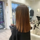 mechas cobrizas con una base natural