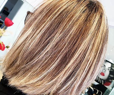 peinado puntas super claras